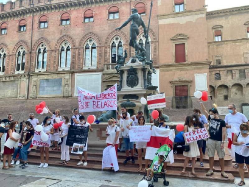 Акция солидарности в Болонье