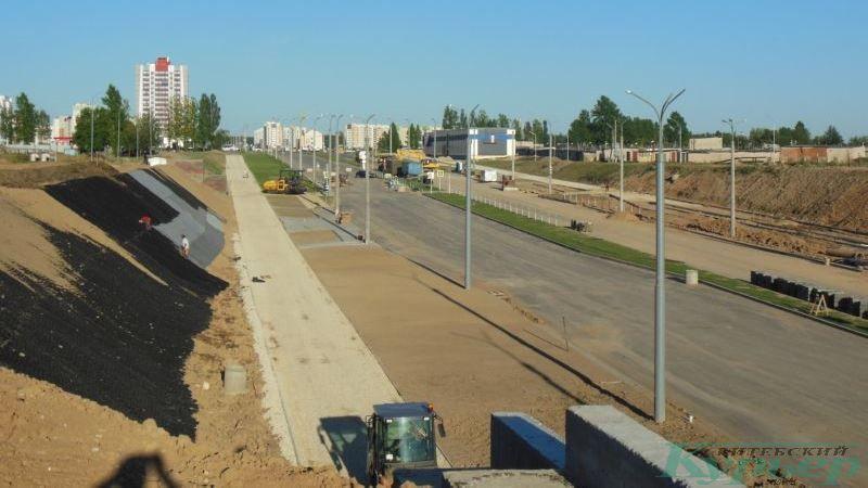 Склоны новой магистрали в Билево
