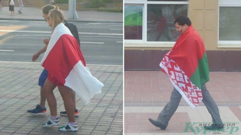 Ношение флагов как плащей