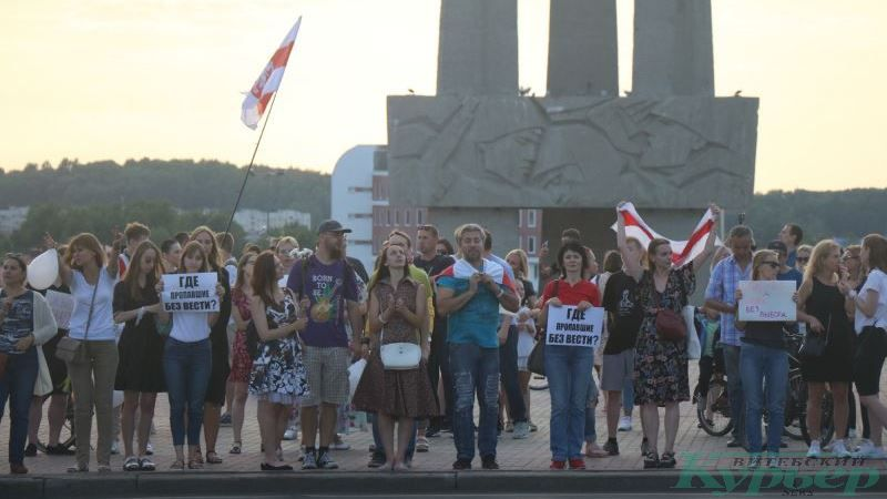 Акция протеста на площади Победы