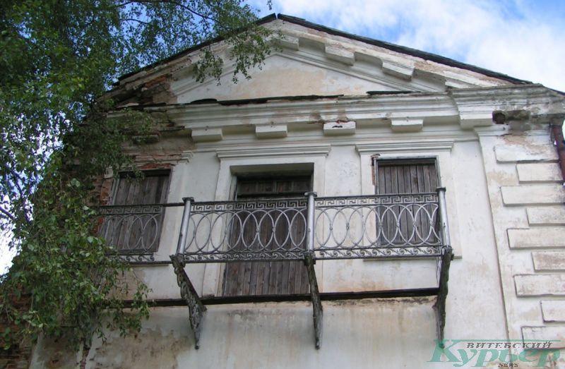 Балкон усадебного дома в Ореховно