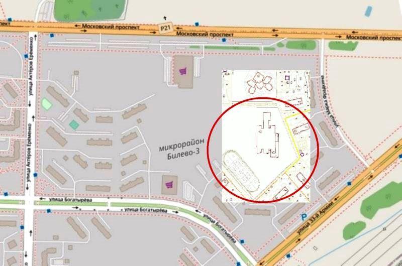 Место, где будет построена школа в микрорайоне Билево-3