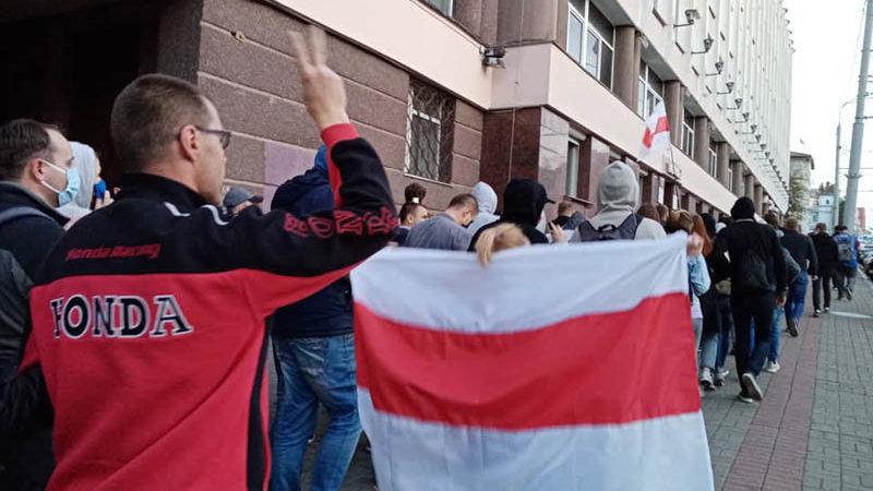 акция протеста 23 августа в Витебске