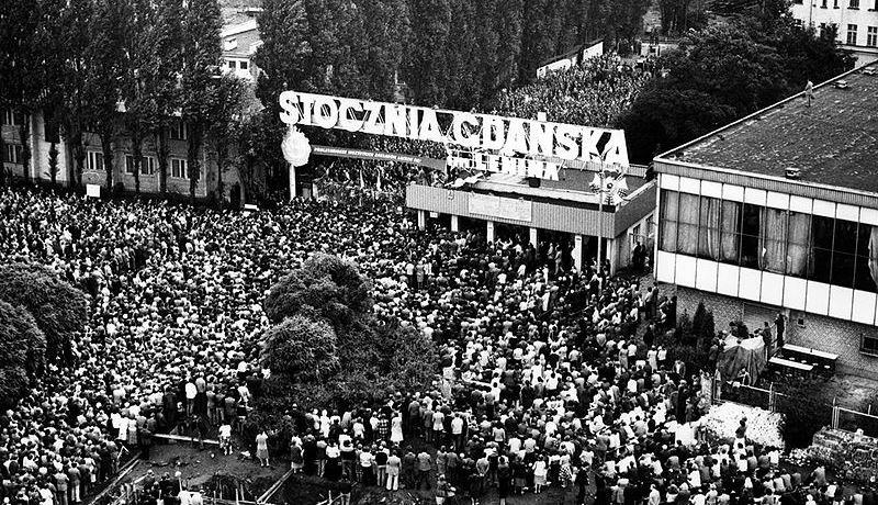 1980 год. Забастовка на Гданьской судоверфи в Польше