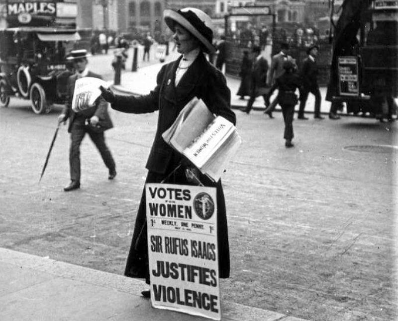 Британская суфражистка начала ХХ века