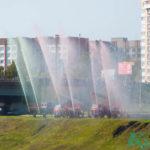 В Витебске на «Дожинках» показали самый большой государственный флаг в области