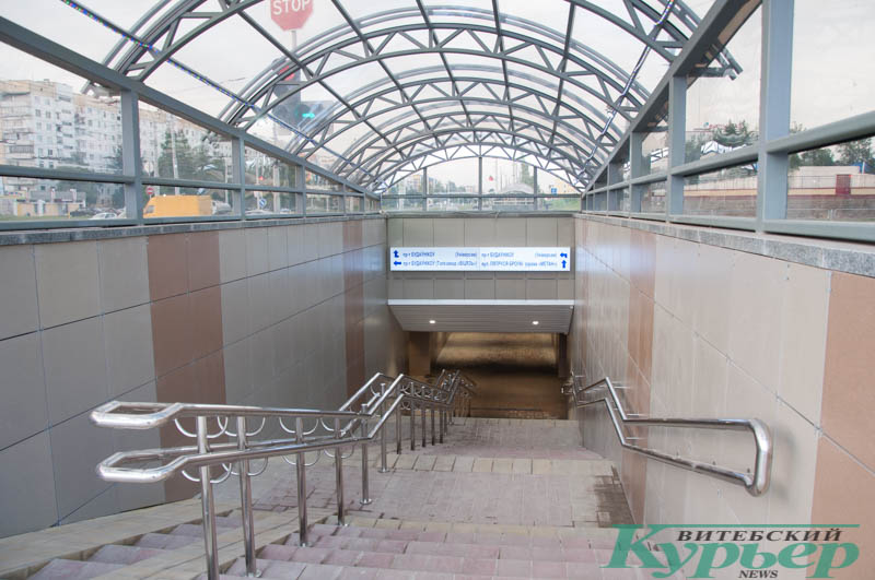новый подземный переход в Витебске