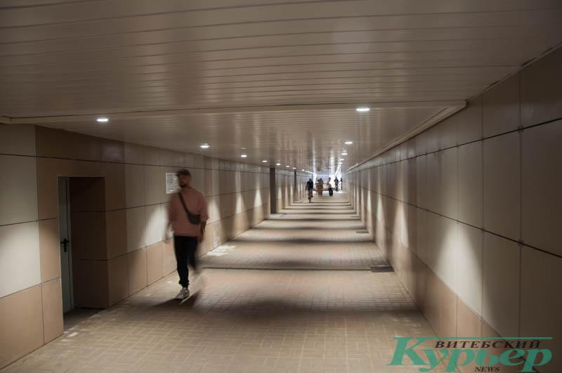 современный подземный переход изнутри