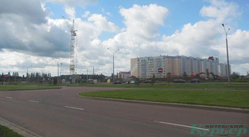Стройка в Билево на пересечении улиц Баграмяна и Генерала Ивановского