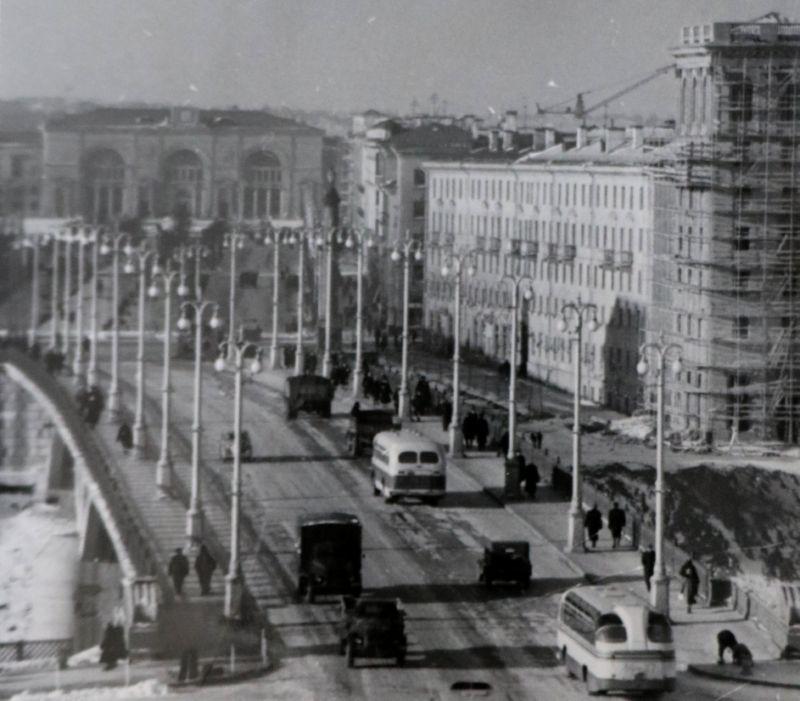 1960 год. Перспектива улицы Кирова и вокзала