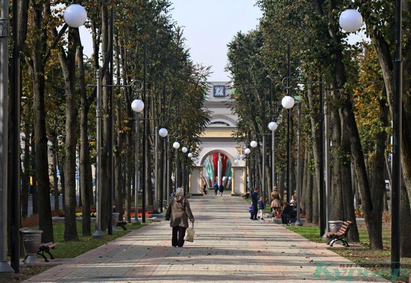 Бульвар по улице Кирова с аркой