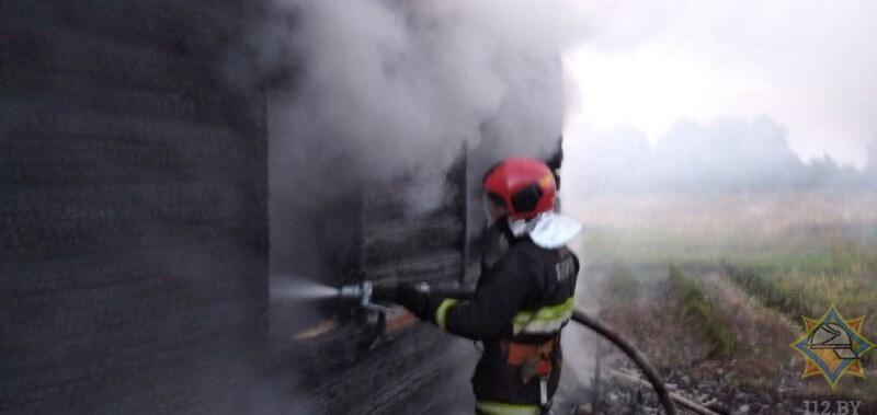 пожар ушачи пожарный
