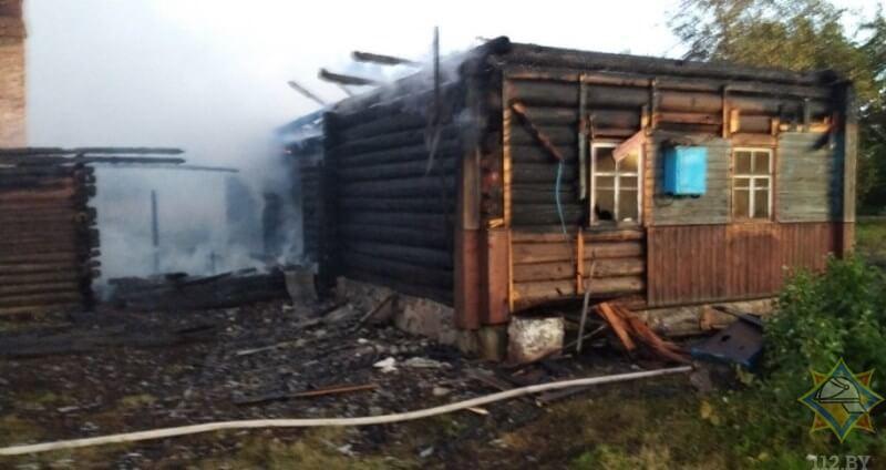 пожар ушачи дом
