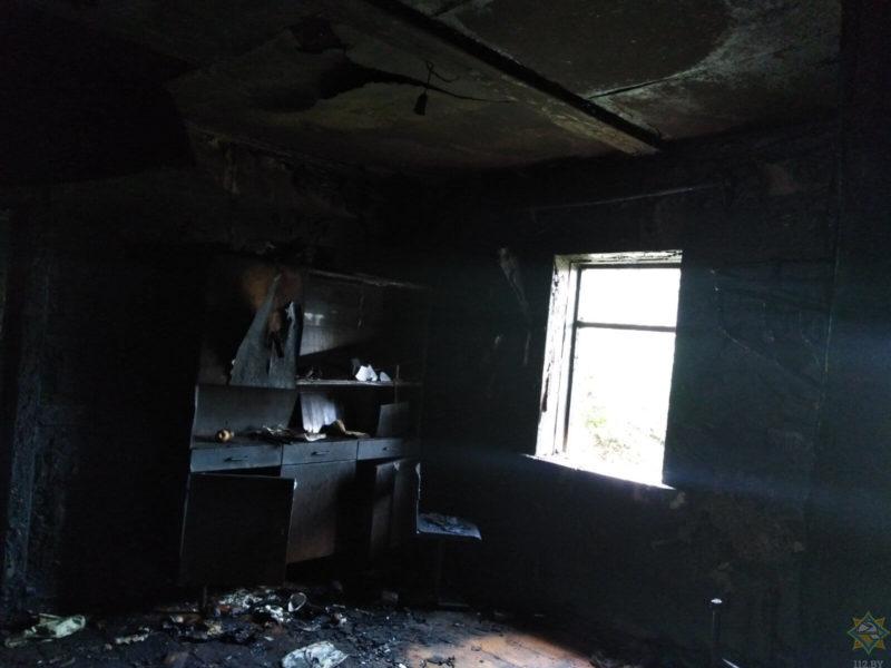 пожар Дубровенский район