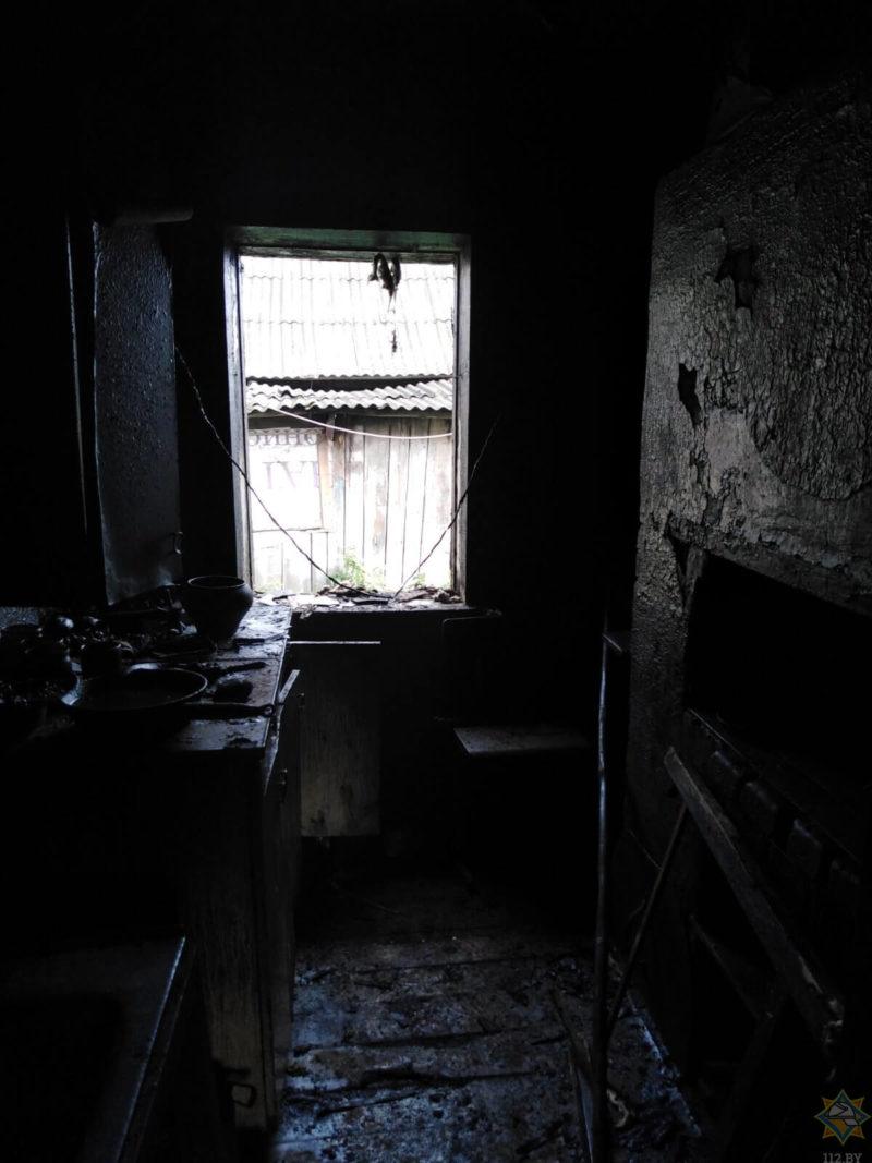 пожар Дубровенский район агрогородок Зарубы