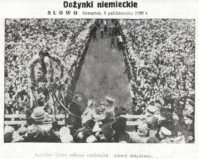1936 год. Гитлер на немецких Дожинках