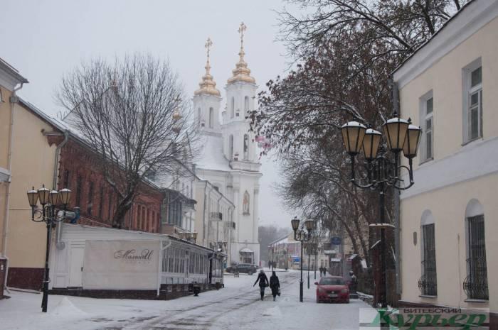 зимняя улица Толстого