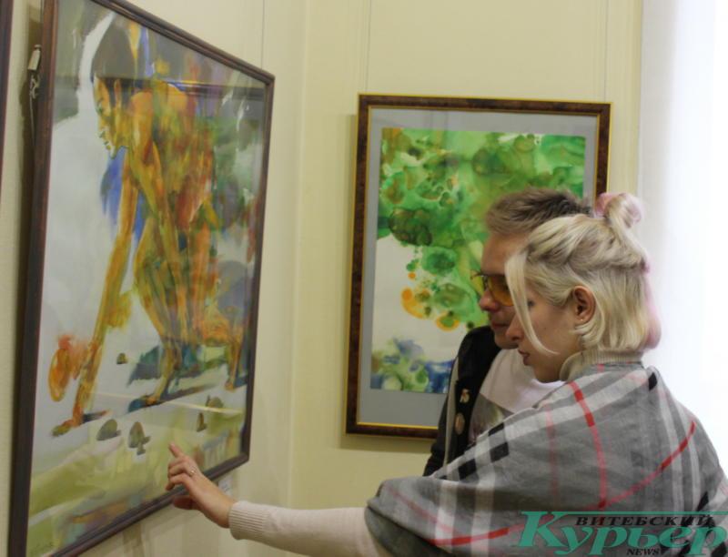 На выставке Олега Костогрыза