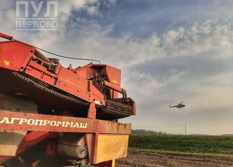 Президентский вертолет в Толочине